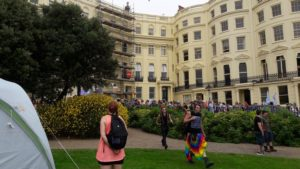 The Trans Pride Brighton March 2016 arrives at the park (Pictures by Mick Gardiner)
