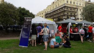 The GIRES Stall at Trans Pride Brighton 2016 was busy during the day (Picture by Mick Gardiner)