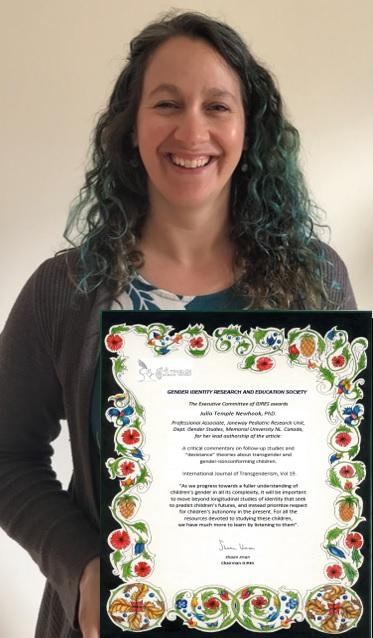 Dr Julia Temple Newhook Award